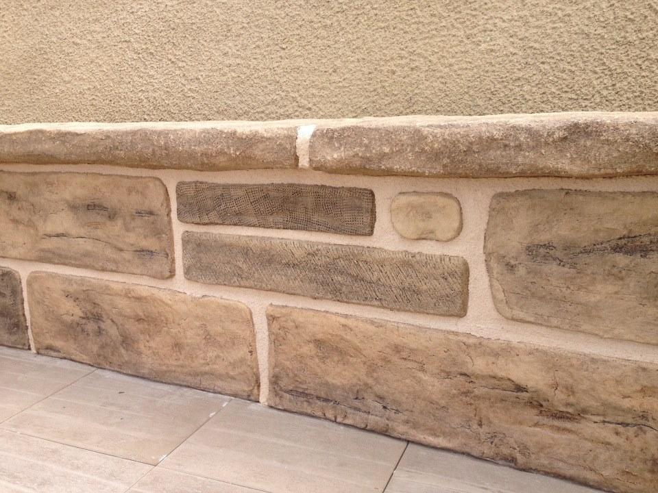 zcalo decorativo con efecto de imitacin a piedra - Zocalos De Piedra